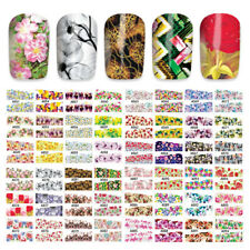 48 Sheets Water Transfer Nail Art Sticker Colorful Flower Tips Decals Natural