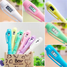 1X Ballpoint Pen With Digital Clock Electronic Clocks Watch Pens Exam Gift