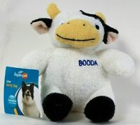1 Count Aspenpet Booda Large Cow Terry Toy Loveable For Cuddling Dog Toy