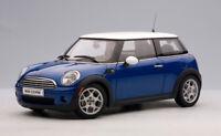 2006 MINI COOPER BLUE WHITE ROOF by AUTOart #75002 1:18 BRAND NEW IN BOX RARE