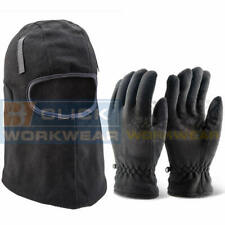 Click 3M Thinsulate Balaclava & Gloves Set, Extra Thick Work Kit, Black Warm