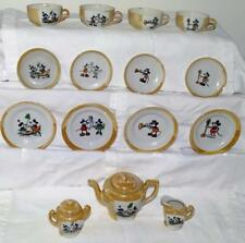 "DISNEY1930's 17 PIECE PAINTED ""MICKEY MOUSE CHINA TEA SET""-EX+ MATCHING GRAPHICS"