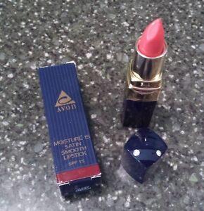 Avon Moisture 15 Satin Smooth Lipstick SPF 15 in Juicy Melon 0.13 oz - NOS