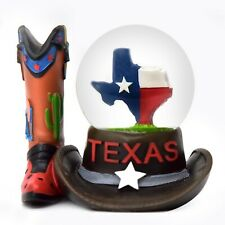 Texas Boot Snowdome Snow Globe-New - - 65 Mm