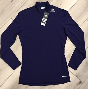 NWT ADIDAS Womens L Tech Fit Long Sleeve Purple Compression Pullover FREE SHIP