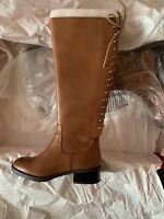New Donald j Pliner women brown leather boots 5m