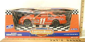 Vintage 1993 Ertl American Muscle Bill Elliot #11 Budweiser T-Bird NASCAR 1:18