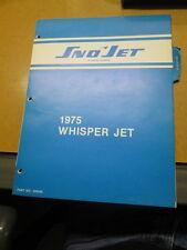 Sno Jet Whisper Jet 1975 Manual 40 Pages Loos Leaf 209346