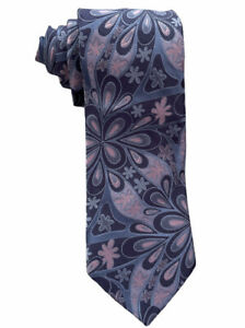 """Ted Baker London Men's Blue/Pink All Over Floral Print Silk Tie 3 5/8"""" USA Mint"""