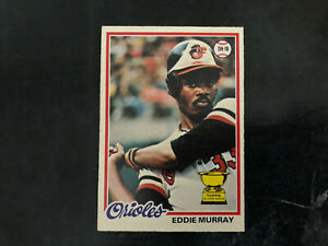 1978 O-Pee-Chee OPC Baseball #154 Eddie Murray Rookie Card RC Baltimore Orioles