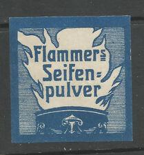 Flammer's Seifen Pulver (jabón en polvo) Sello de publicidad/Etiqueta