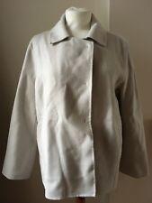 Jigsaw Double Faced Wool Swing Jacket Cream UK 12