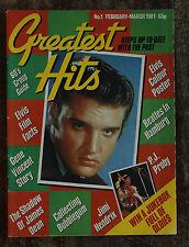 Greatest Hits magazine #1 1981 Elvis, Beatles, Hendrix, James Dean, Gene Vincent