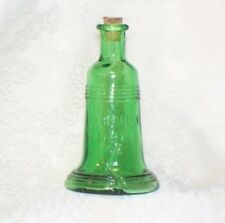 Vintage Green LIBERTY BELL BOTTLE Cork Embossed TAIWAN Small Perfume mini