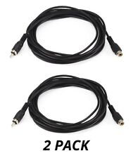 2x 12FT RCA Audio Cable Single Extension Composite Male to Female Plug M/F NEW