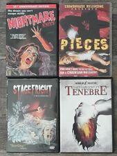80's Italo Giallo Slasher lot: Pieces, Tenebre, Nightmare & StageFright(DVD)