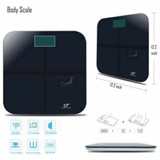 180KG Max LCD Screen Body Weight Scale Digital Bathroom Scale Tempered Glass