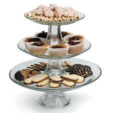 Anchor Hocking Presence Glass 3 Tier Cake Cupcake Stand Christmas Gift Bake off