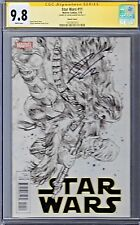 STAR WARS # 11 Sketch Variant Cover CGC 9.8 Marvel 2015 SS