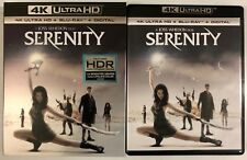 SERENITY 4K ULTRA HD BLU RAY 2 DISC SET +RARE OOP SLIPCOVER SLEEVE FREE SHIPPING