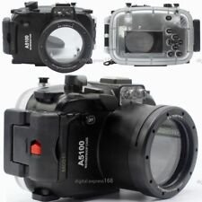 40M 130ft Underwater Diving Waterproof Housing Case for Sony A5100 16-50mm Lens