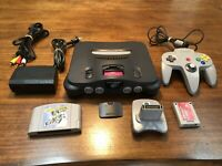 Nintendo N64 NUS-001 Console System Game Bundle Tested/Working- Excitebike 64