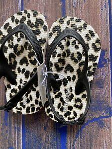 Old Navy Animal Printed Flip Flops Sandals Toddler Girls Size 5