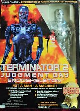 "1995 TOY ISLAND 15"" TERMINATOR T-800 CHROME PLATED ENDOSKELETON CLEAN VERSION"