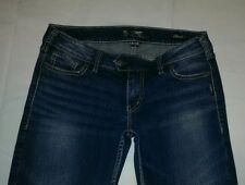 Women's Silver Jeans Denim Pants Sz 31/31 Tuesday Classic Stretch Thick Boot Cut