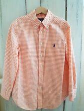 Chemise Ralph Lauren à petits carreaux orange pour enfant Taille S (8-10 ans)