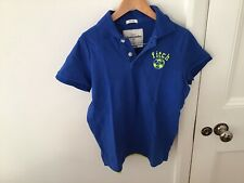 Abercrombie And Fitch Blue Poloshirt Unworn Size L Approx Age 11