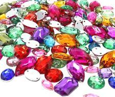160 x Mixed Shape/ Sew On Flatback Rhinestones Crystals Stones/ Gem Stones UK#1