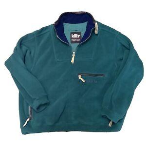Killy Mountain Product Fleece Smock Jacket Jumper Coat Pullover Green XL