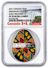 2017 Canada Pysanka Egg-Shaped 1 oz Silver Colorized NGC PF70 UC ER SKU46109