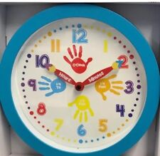 Quality Kids Wall Clock Learning To Tell Time 25cm EDUCATION BLUE GIFT BIRTHDAY