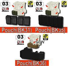 Vest builder pouches and holster  (Combo2) compatible with toy brick minifigures