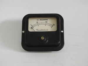 USED REPLACEMENT PLATE CURRENT METER FOR THE HEATHKIT DX-20 OR DX-40 TRANSMITTER