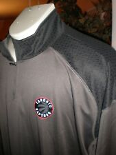 NWT TORONTO RAPTORS L/S GREY WITH BLACK TRIM PERFORMANCE 1/2 ZIP TOP SZ:3XL 3X