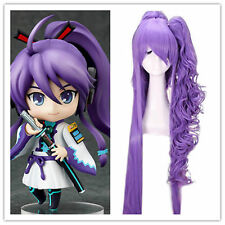 Anime VOCALOID Gakupo 120cm Long Purple Cosplay Ponytail Full Hair Wig  &2
