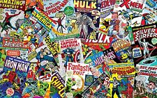 Marvel Super Hero Comic Theme Edible Cake ICING Sheet A4