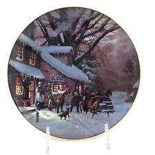 """W.S. George Collector Plate """"The Homecoming"""" By LLoyd Garrison 1989 Christmas"""
