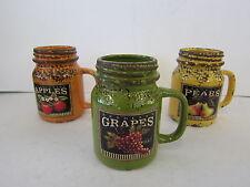 Country Ceramic Kitchen Preserving Jars