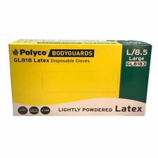 Latex Powdered Large Disposable Gloves