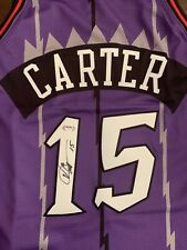 VINCE CARTER 1998-99 Mitchell & Ness Authentic Raptors Signed Jersey PSA/DNA