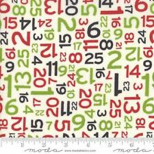 Moda Sweetwater Hometown Christmas Countdown Numbers Fabric in Multi 5665-11