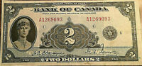 1935 CANADA 2 DOLLARS BANK NOTE - English serie - A very nice one!