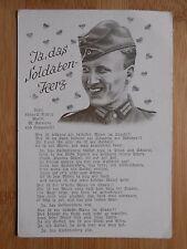 Postkarte Original Feldpost , Ja das Soldaten-Herz