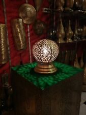 Moroccan night light spherical Table lamp brass decoration round Lamp shade