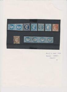2132 France Ceres and Napoleon etc 12 stamps mixed condition