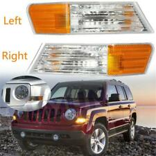2pcs Front Left + Right Parking Turn Signal Light Lamp For Jeep Patriot NEW
